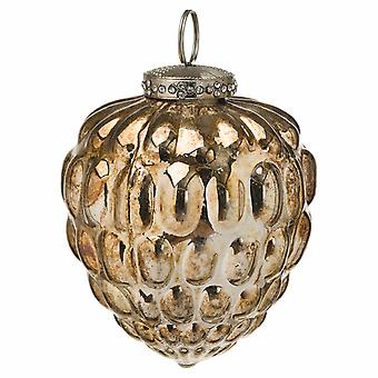 The Noel Collection Burnished Glass Acorn Christmas Bauble