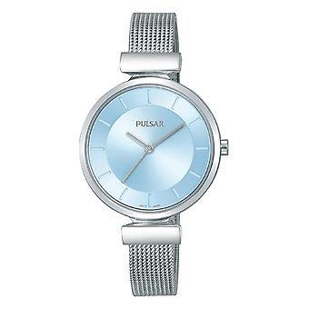 פולסר Ph8411x1 כחול & כסף נירוסטה רשת נשים לצפות