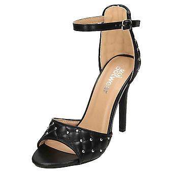 Koi Footwear High Heel Ankle Strap Shoes Open Toe Studs