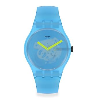 Swatch Suos112 Ocean Blur Blue Silicone Watch
