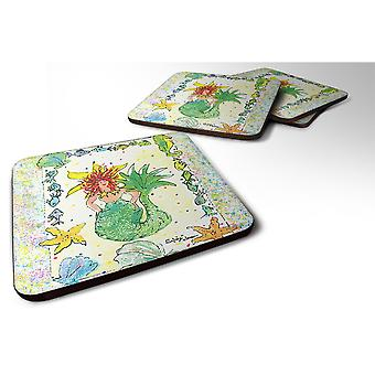Caroline'S Treasures 8081Fc Mermaid Foam Coasters (Set Of 4), 3.5 H X 3.5 W, Multicolor