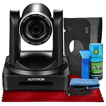 Alfatron alf-10x-cam 1080p ptz camera, 10x zoom lens with 6-foot hdmi cable, cleaning kit and more in ready-to-film basic accessories bundle