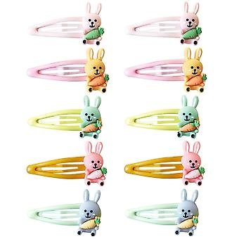 10x Cute Hair clips - Rabbits