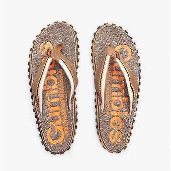 Gumbies Cairns Mens Jersey Flip Flops Orange
