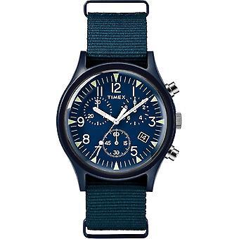 Timex MK1 Chrono Nylon Indiglo Mens Watch TW2R67600