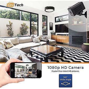Mini Spy Kamera - Full HD 1080p & Nachtsicht-Recorder - WiFi Wireless-Verbindung (Android / iOS) - Bewegungssensor - Miniatur-Kamera für Innen / Outdoor-schwarz