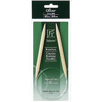 Trébol Pernos de tejer: Circular: Fijo: Takumi Bambú: 60cm x 8.00mm