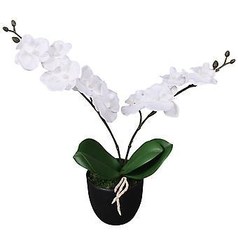 vidaXL Keinotekoinen orkidea ruukulla 30 cm Valkoinen
