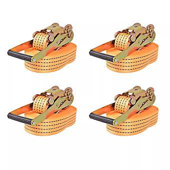 vidaXL ratchet straps 4 pcs. 2 tons 8m×50mm orange