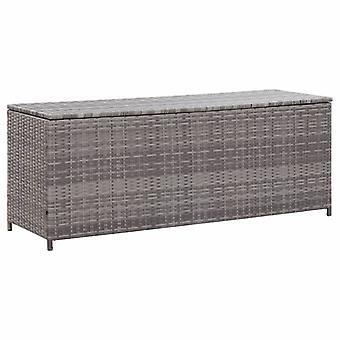 vidaXL Garden Box Grey 150x50x60 cm Poly Rattan