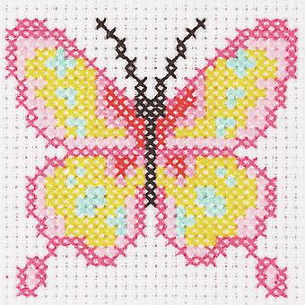 Kit de puntada cruzada de anclaje: 1er kit: mariposa