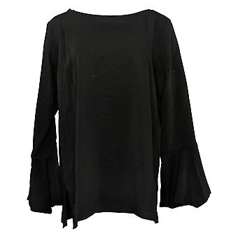 Linea by Louis Dell'Olio Women's Top Reg Pullover Blouse Black  A302549