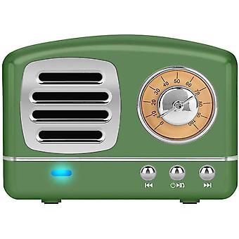 Tragbarer Retro Mini Lautsprecher,Bluetooth/TF-Karte/USB/AUX Ausgabe Spieler,Klassischer