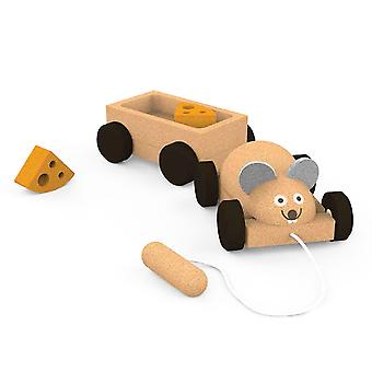 Elou Mouse Trailer Pull Along Toy