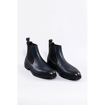 Leather navy chelsea boots | wessi