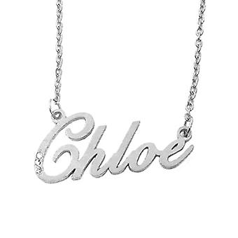 Kigu Chloe - Halsband med namn, silverpläterat