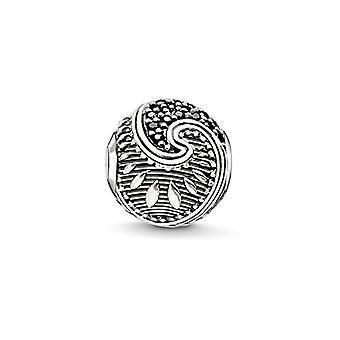 Thomas Sabo Karma Perler, Donna, Bead 'maori , sterling sølv 925 niellato