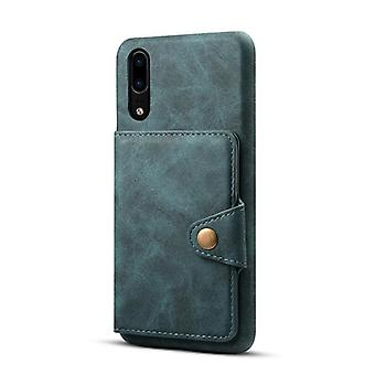 Wallet leather case card slot for iphonexsmax6.5 blue no4371