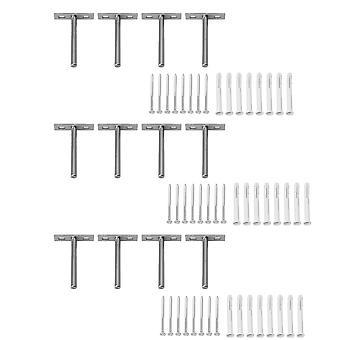 12 x supports d'étagère flottants en acier Supports d'étagères invisibles 4 pouces