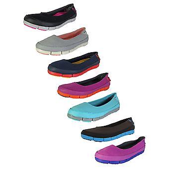 Crocs Womens Stretch Sole Flat Slip On Shoes