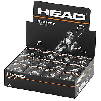 Head Start Squash Ballen - Single White Dot - Doos van 12