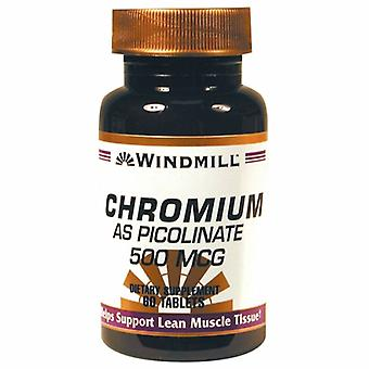 Windmill Health Chromium as Picolinate, 500 mcg, 60 Tabs