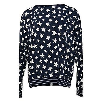 Hvem som helst Dame Loungewear Trykt Hacci Sweatshirt Svart A302193