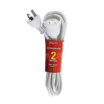 Doss 2M White Power Extension Lead
