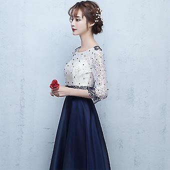 Nouvelles robes de soirée formelles longues Robe de mode perlée