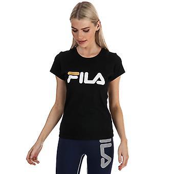 Women's Fila Cecily Classic T-Shirt in Black