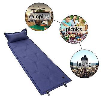 Cqd-1002 Single Person Inflatable Air Mattress Pillow Folding Sleeping Bag Bed