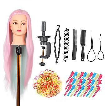 Mannequin Head With Clamp Holder For Braiding Hair Styling Practice Manikin Head For