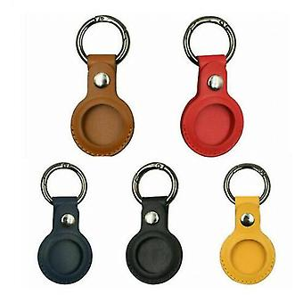 Set Of 5 Colors For Apple Airtag Leather Case Cover For Keychain Sleeve Shell Skin