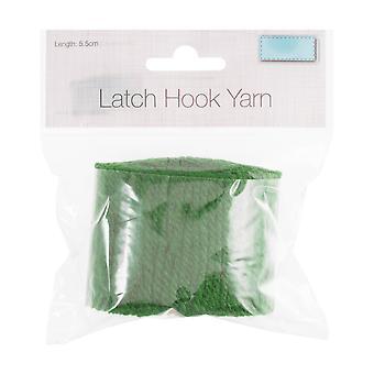 Latch Krok Garn - 5,5 cm - Lime Grønn