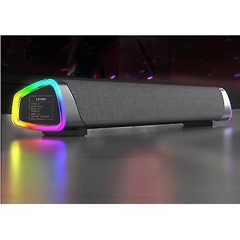 الكمبيوتر المتكلم الموسيقى تحيط مكبر الصوت ستيريو مضخم الصوت لأجهزة الكمبيوتر المحمولة ماك بوك (أسود)