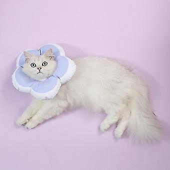 Cute Flower Shaped Pet Anti-licking Collar, Specification: S(Purple)