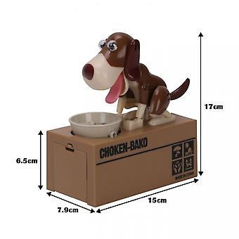 Puppy Bank Money Coin Saving Box Gift Stealing Eating Coin Storage