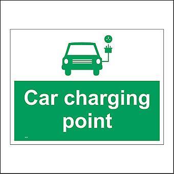 VE229 Car Charging Point Sign with Car Plug & Socket