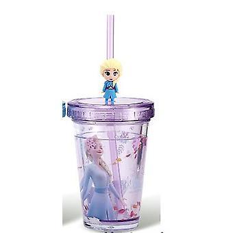 Kids Disney Princess Elsa Mermaid Sippy Cup For Girls Cute Cartoon Pixar McQueen Mickey Mouse