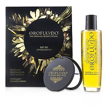 Orofluido den ursprungliga skönheten ritual Limited Edition Presentset: original elixir 100ml + kompakt spegel 2st