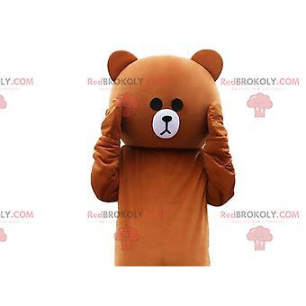 Beige und weiß Teddy-Kostüm, Teddy-Kostüm
