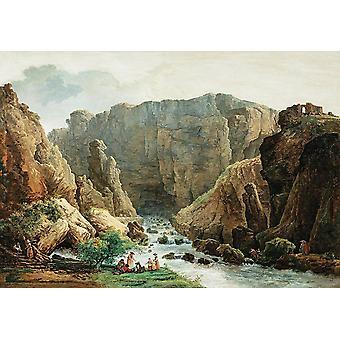 Wallpaper Art Mural The Spring At Fontaine De Vaucluse by Hubert Robert