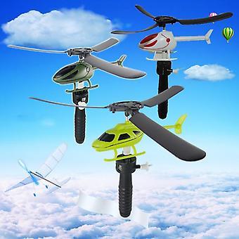 מודל תעופה למשוך חוטים מסוקים לטוס חופש משיכת מטוס מיני בחוץ