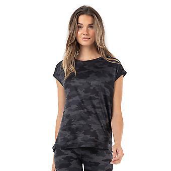 Seger Camo Moss Jersey Kepsärm T-Shirt för damer