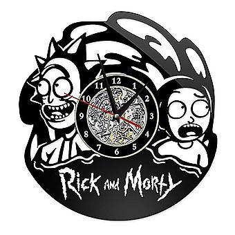 Rick and Morty Wall Clock Vinyl Records Zegar ścienny 12-calowe zegary Home Ornament