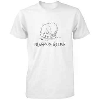 Nada a vivir Polar oso camisetas día de la tierra de los hombres excepto la campaña del Oso Polar
