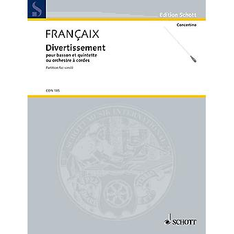 Divertissement Françaix, Jean bassoon and string quintet or string orchestra score