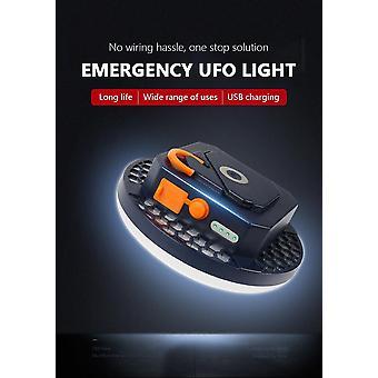 Blanco 6600mAh LED tienda de campaña linterna recargable portátil al aire libre de la bombilla| Linternas portátiles