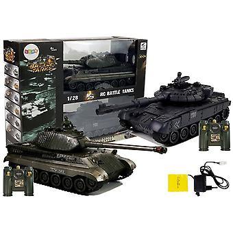 Funkgesteuertes Armeepanzerduell Set - grün und schwarz - 26 und 28 cm