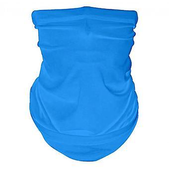 Šátek na obličej, letní chladné prodyšné lehké slunce & odolné proti větru (modrá)